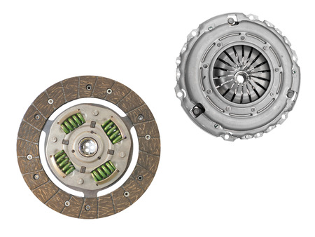 clutch cover: clutch cover under the white background Stock Photo