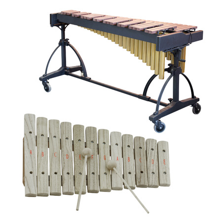 xylophone: The image of a xylophone under a white background Stock Photo