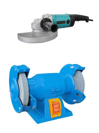 grinder machine: grinder machine under the white background Stock Photo