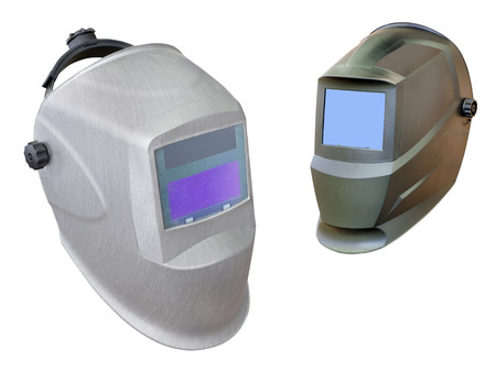 welder helmet under the white background photo
