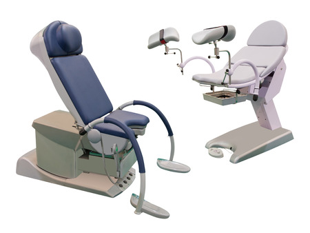 spetial: Medical chair under the white background