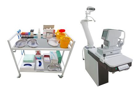 emergency cart: Interior of a doctors consulting room