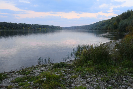 oka: Automn landscape with the image of Oka river, Russia
