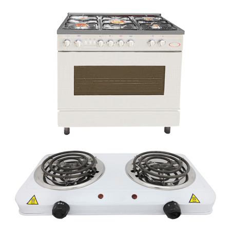 The image of modern stove under the white background photo