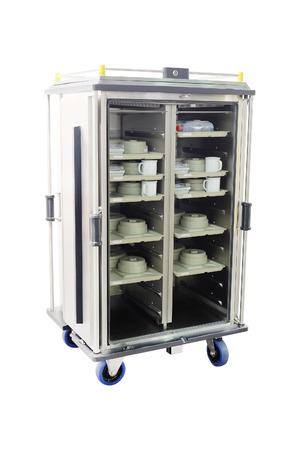 industrial Refrigerator under the white background photo