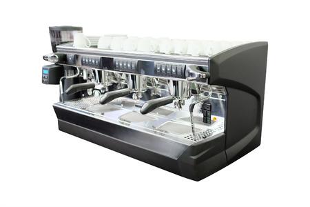 maquina de vapor: máquina de café en el fondo blanco
