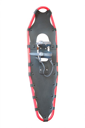 snowshoes: snow-shoes under the white background