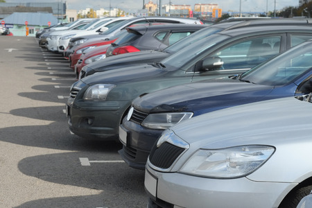 image of a vehicles parked in parking lot