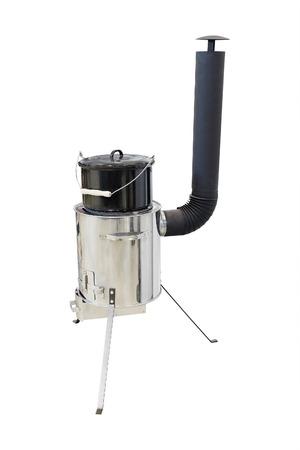 portable stove under the white background photo