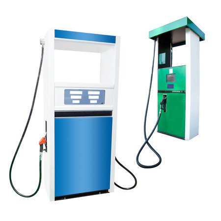 The image of petrol pump under the white background photo