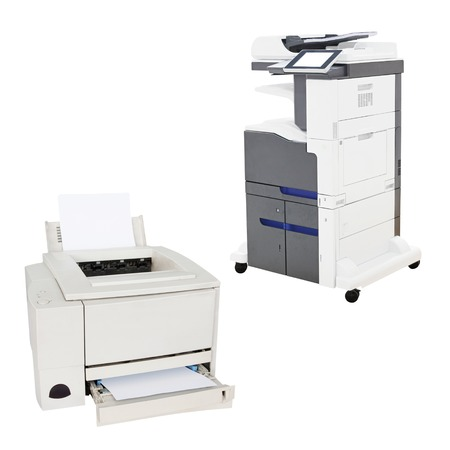 image of a professional printing machine photo
