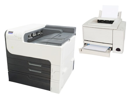 image of a professional printing machine photo
