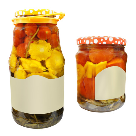 The image of vegetable jar photo