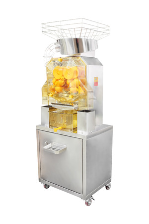 extractor: juice extractor for a citrus with the stand under the white background