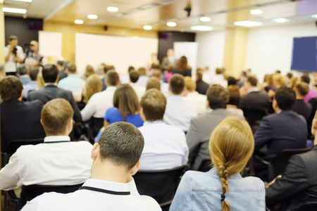 lecture hall: The audience listens to the acting in a conference hall