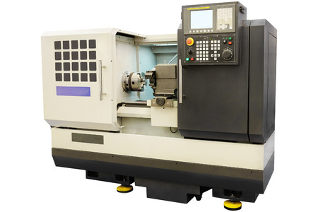 scobs: image of a lathe Stock Photo