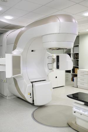 Radiotherapie Ultraschallkopf in das Innere eines Krankenhausdiagnoseraum Editorial