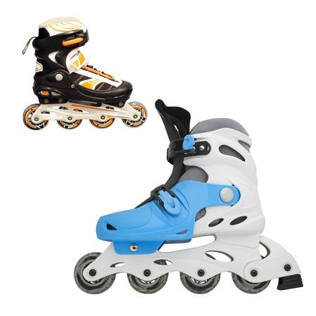 rollerblade: Image of roller skate under the light background