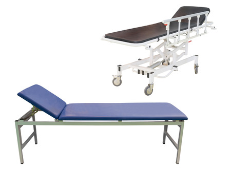 under the bed: medical bed under the white background