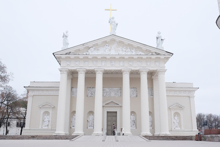 sainthood: image of a VILNIUS,LITHUANIA, November 17, 2014: The Cathedral of Vilnius