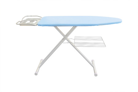 drudgery: ironing-board under the white  Stock Photo