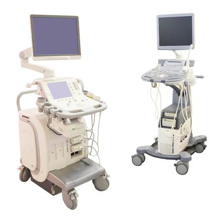 foetus: ultrasound apparatus under the white  Stock Photo