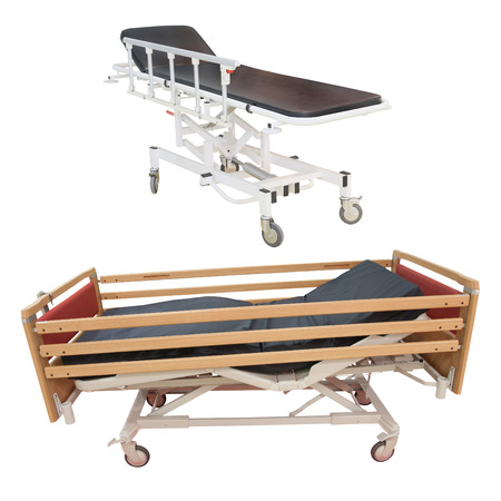 under the bed: medical bed under the white