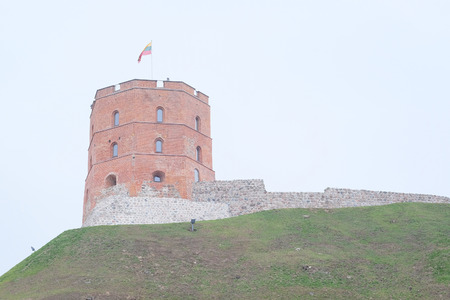 image of a VILNIUS,LITHUANIA, November 17, 2014: Tower of Gediminas, symbol of Vilnius.
