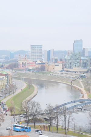 vilnius: image of a VILNIUS,LITHUANIA, November 17, 2014: view of the Vilnius city