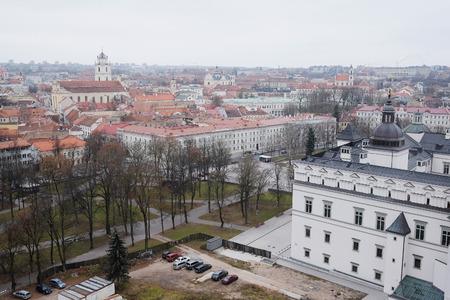 vilnius: VILNIUS,  LITHUANIA, November 17, 2014: Panoramic View of Vilnius