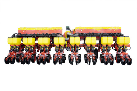 agricultural implements: image of agricultural machine under the white