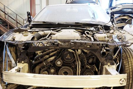 motion sensor: Image of a repair garage Stock Photo