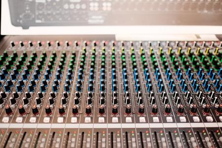 timbre: image of audio control desk Stock Photo