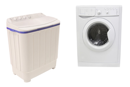 turn dial: The image of washer under the white background