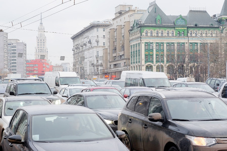 traffic jams: Moscow, Russia, December, 18, 2014: traffic jams in city Moscow