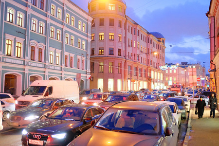 jams: Moscow, Russia, December, 18, 2014: traffic jams in city Moscow