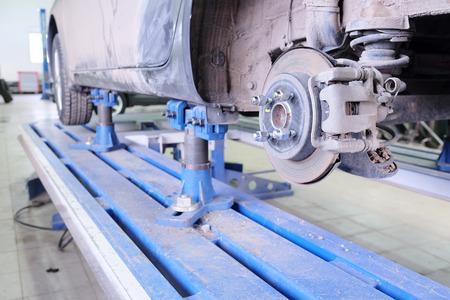 slipway: Brake disk and caliper assembly Stock Photo