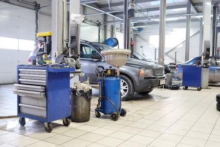 Image of a car repair garage Stock Photo