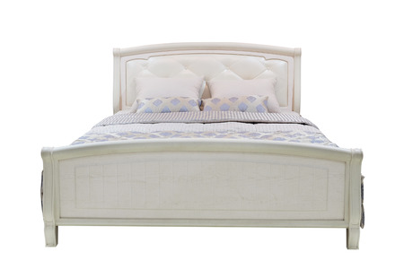 king bed: double bed isolated under the white background