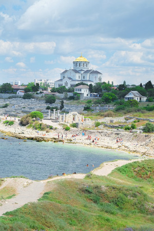 disruption: the image of a Ruins of Hersones, ancient greece settlement on Crimea