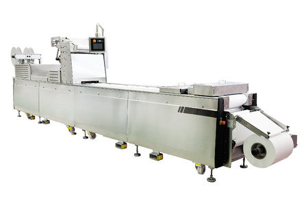 automated tooling: image of a food industry equipment under the white background Stock Photo