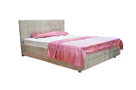counterpane: double bed isolated under the white background