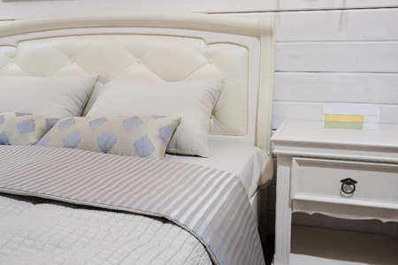 coverlet: close-up of a bedroom in modern style
