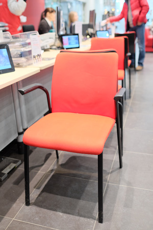 visitors: chairs for visitors to the motor show