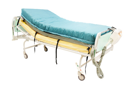 mobile medical bed isolated under the white background photo