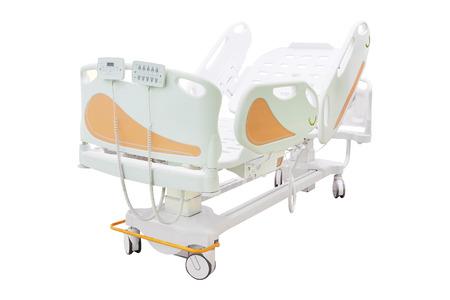 ambulatory: mobile medical bed isolated under the white background Stock Photo