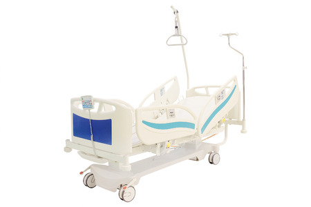 surgery stretcher: mobile medical bed isolated under the white background Stock Photo