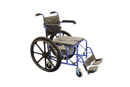 physical impairment: Wheelchair isolated under the white background