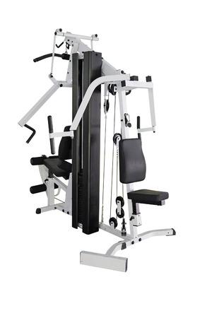 apparatus: gym apparatus under the white background