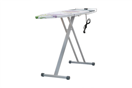 drudgery: ironing-board under the white background